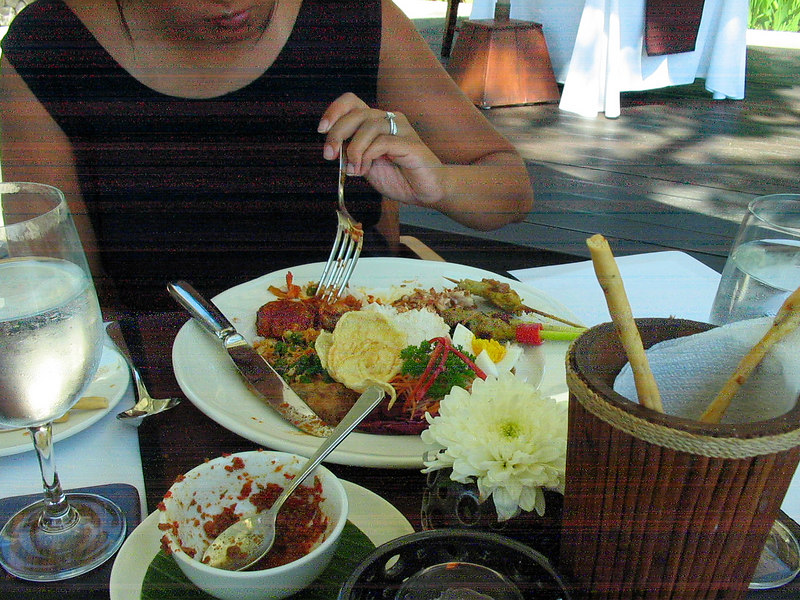 Our first meal at Kayumanis in Ubud before even getting to see our private villa.