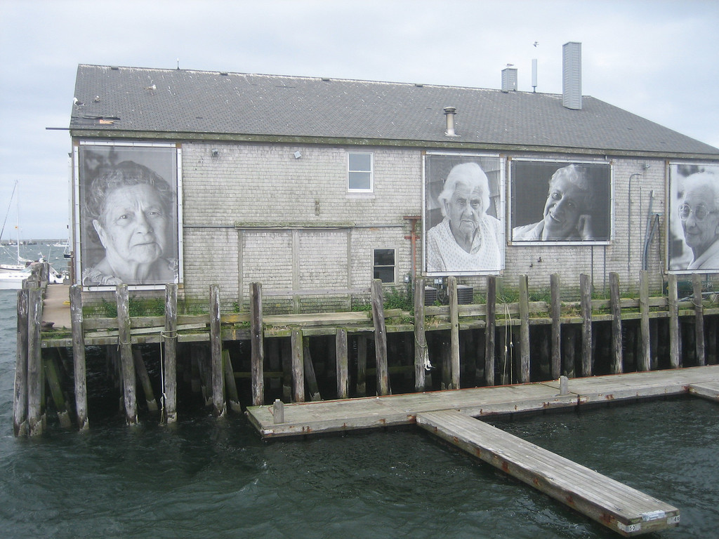 This photo exhibit is dedicated to the fishermen wives.  I loved the way it looked when we pulled back into the harbor.