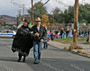 Councilwoman Mary Ann Dickinson and Mayor Nick Valentine lead the parade
