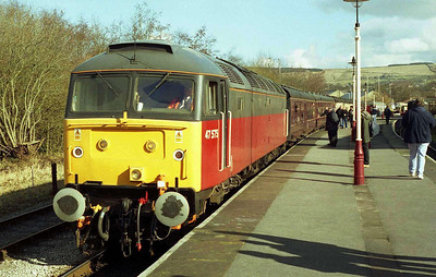 Also in action at the ELR was Riviera Trains' 47575, seen here at Rawtenstall with the 1217 to Heywood (18/02/2006)