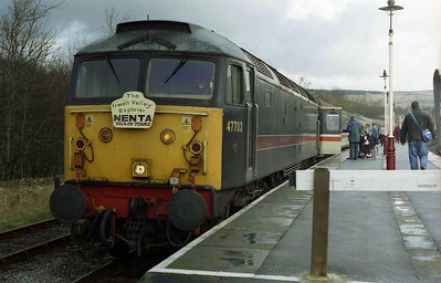 47703 'Hermes' waits to depart from Rawtenstall with the return 1Z45 to Norwich, which it worked as far as Manchester Victoria (08/04/2006)