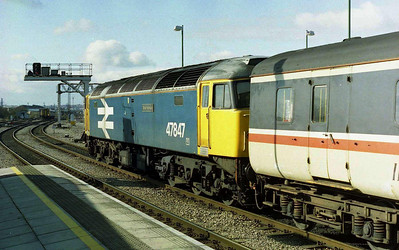 47847 'Brian Morrison' is seen here after arriving at Cardiff with 1Z69 0930 charter from Wigan (26/02/2006)