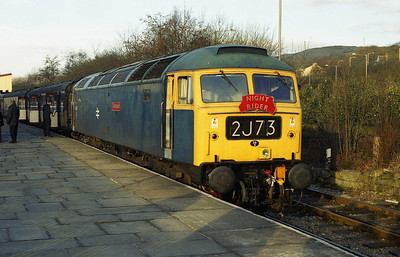 47402 'Gateshead' bathes in the early morning sunlight at Rawtenstall after working the 0645 from Heywood. The loco had been used for the 'overnight' leg of the East Lancashire Railway's 'Night Rider' event, which rekindled a few happy memories of nights