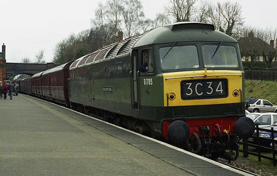 After working its final passenger train of the day, 47117 is pictured at Rothley with 3C34 (26/03/2006)