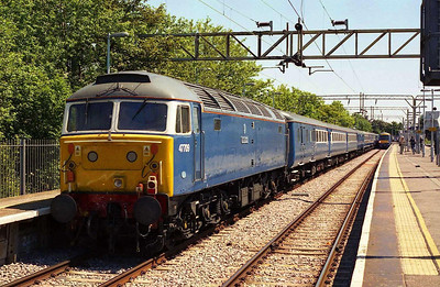 Such was the uniqueness of the occasion, that I even interrupted my main course for this photo: after '712 had worked the outward leg, 47709 waits to depart from Shoeburyness with the 1Z48 1352 return to Fenchurch Street (28/06/2006)