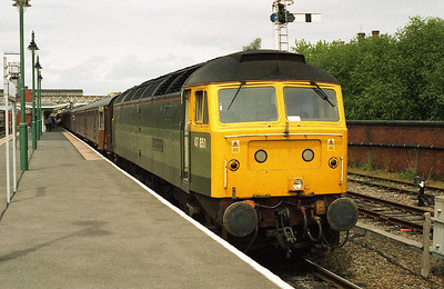 Having completed its outward journey, 47851 is seen again on arrival at Shrewsbury (24/06/2006)