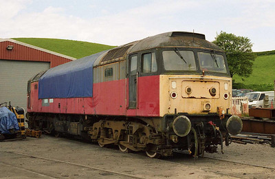 Having restored 'D1842' to working order, the next project for the 'Staffordshire Type 4' group is 47524 - pictured here outside the shed at Cheddleton (04/06/2006)