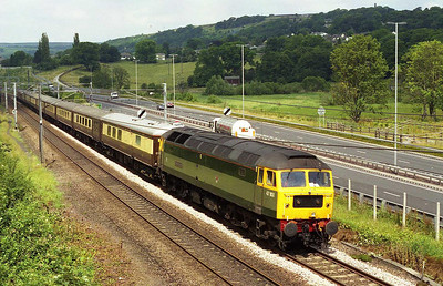 47851 'Traction Magazine' approaches Bingley with 5Z57 0945 Carnforth-Saltburn empty stock move (29/06/2006)