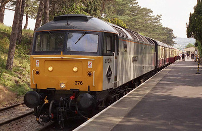 47376 is pictured on arrival at Cheltenham Race Course with the 1003 from Winchcombe on the second day of the Gloucestershire & Warwickshire Railway's 'Thomas' weekend (25/06/2006)