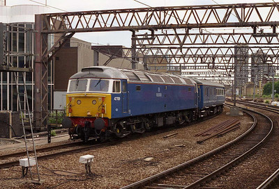 47709 'Dionysos' arrives at Fenchurch Street with 5Z47 1128 empty stock from East Ham for a 'Blue Pullman' charter to Shoeburyness (28/06/2006)