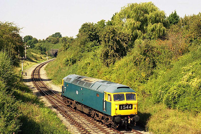 The BT4F's 47105 was in charge of the afternoon '47'-hauled trains, and is seen here running round at Winchcombe after working the 1302 'local' from Toddington (10/09/2006)