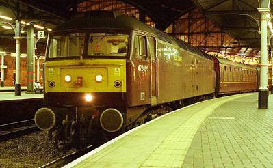 A nocturnal view of 47245 on arrival back at Newcastle with 1Z42 (09/09/2006)