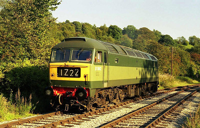 Illuminated by the afternoon sun, 47192 is pictured again later in the day at Froghall whilst it runs round after working 2Z11 1542 from Leekbrook (08/09/2006)
