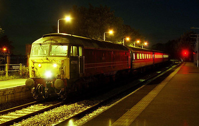 In the early hours of Sunday morning, 47703 'Hermes' waits to depart from North Walsham with 5Z33 0024 ecs back to Norwich off Saturday's NENTA charter (08/10/2006)