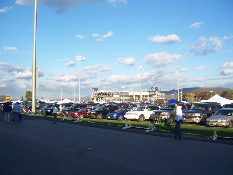 Tailgating at Penn State... view from outside Beaver Stadium