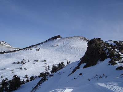 The true summit of Red Lake Peak from a false summit.