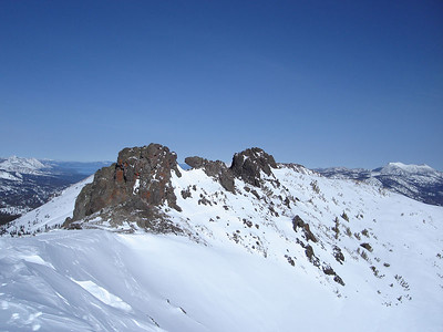 The summit crags.