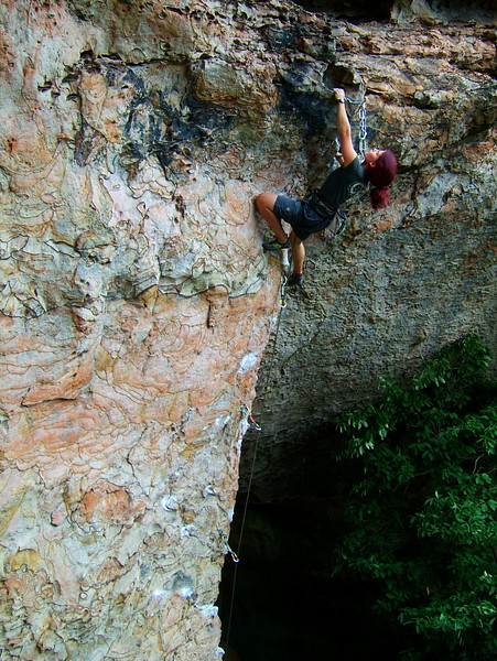 Kasia shows us how it's done on <i>Too Many Puppies 5.12a</i> at the Left Flank Wall.