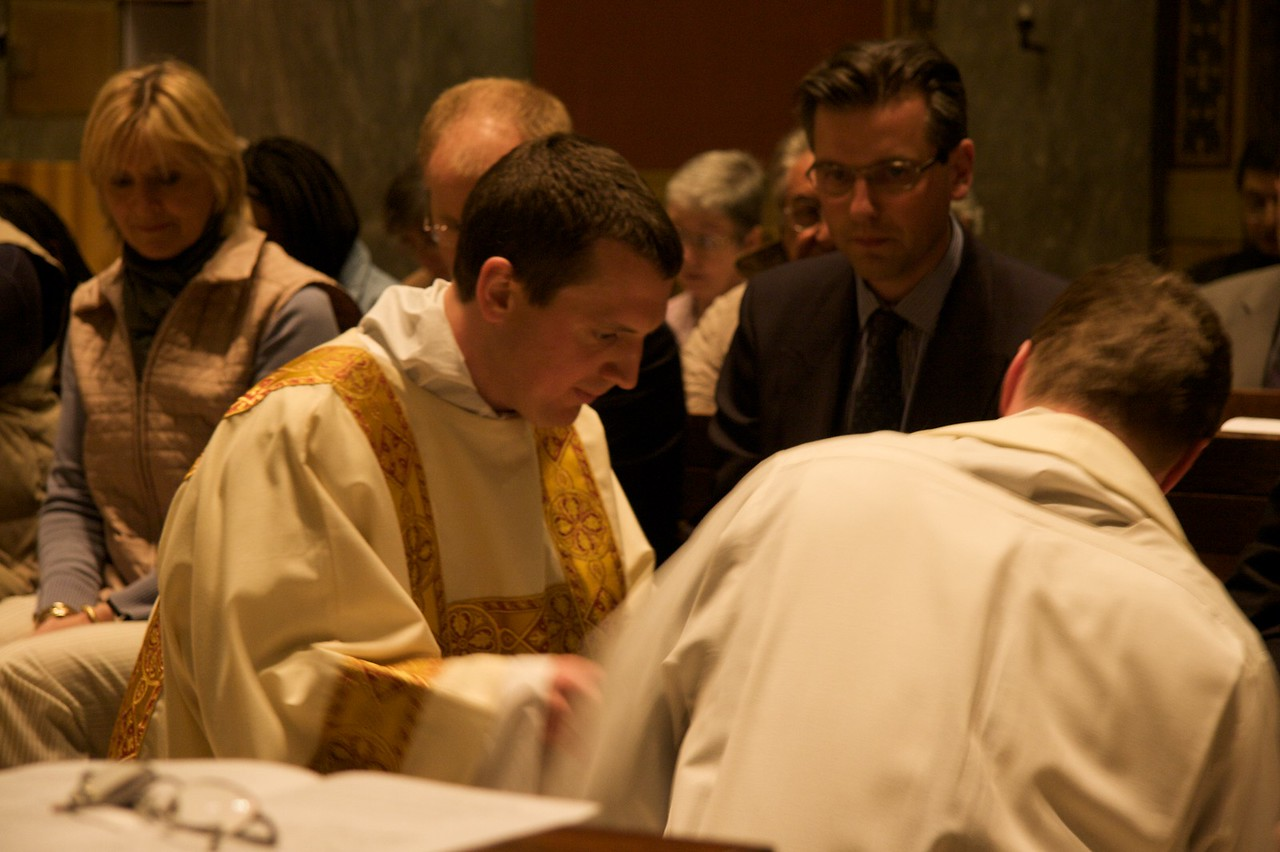 Washing of the Feet • The washing of the feet at the Mass of the Last Supper on the evening of Maundy Thursday.