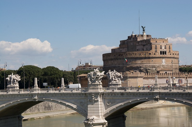 Castel Sant'Angelo • A view down the Tiber towards Castel Sant'Angelo.