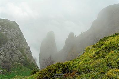 Brouillard sur les crêtes des 3 Becs