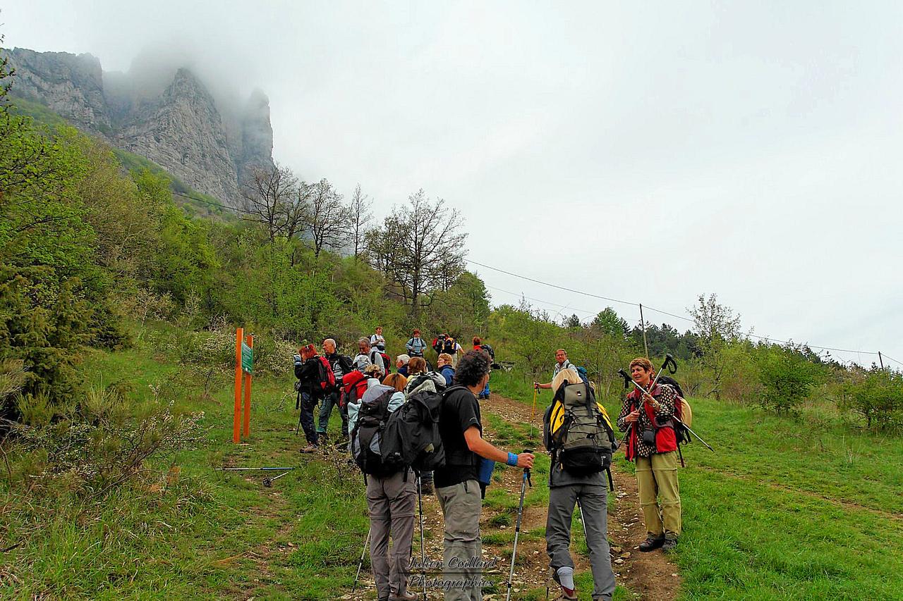 Col de la Chaudière - Prêt pour la montée au Pas de Siara