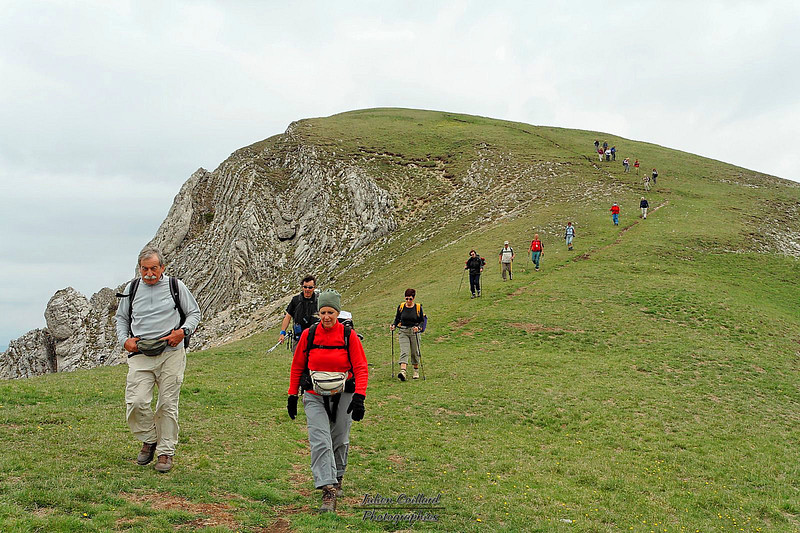 Grand Delmas - En redescendant sur le Col de Gourdon