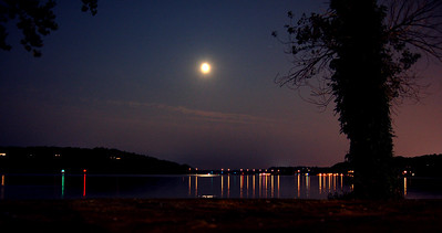 Irondeqouoit Bay in the Moonlight