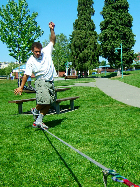 We rigged a couple slacklines in various parks to kill some time while recovering from our hard climbing in Squamish.
