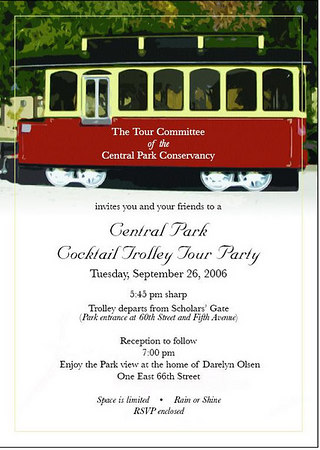 Central Park Cocktail Trolley Tour Party