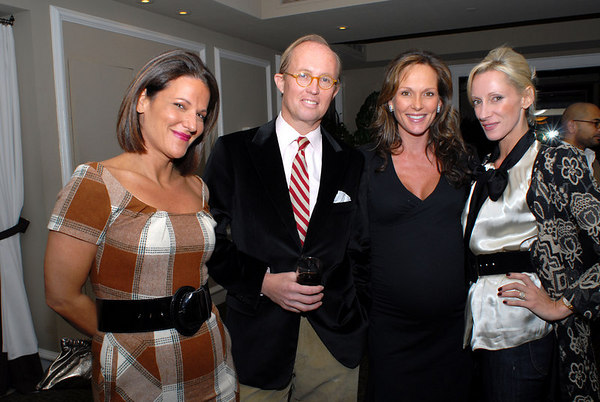 Julie Dannenberg, Mark Gilbertson, Clo Cohen & Jackie Astier at the D&D Building for a Cocktail Party to Celebrate the Associates Committee & Kids in Candyland Committee of Lenox Hill Neighborhood House