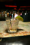 my lonely drink, all alone at the bar while I flirt with the camera