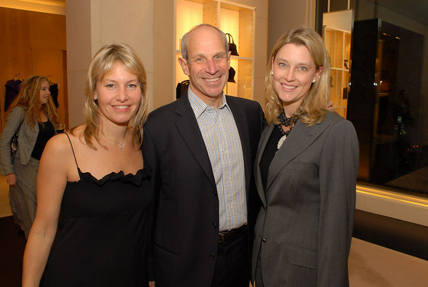 """Susie Block Casdin, Jonathan Tisch & Susan Potock Harrison at Giorgio Armano for a cocktail party hosted by The <a href=""""http://www.med.nyu.edu/pedhematology/"""">Hassenfeld</a> Committee to Preview Fall/Winter 2006 Collection and to celebrate upcoming Casino Night fundraiser for the <a href=""""http://www.med.nyu.edu/hassenfeld/"""">The Hassenfeld Children's Center For Cancer & Blood Disorders</a> at NYU"""