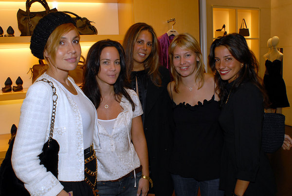 Fabiola Beracasa, Tracy Paul, ?, Susie Block Casdin & Soshanna Gruss