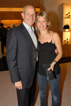 "Jonathan Tisch & Susie Block Casdin at Giorgio Armano for a cocktail party hosted by The <a href=""http://www.med.nyu.edu/pedhematology/"">Hassenfeld</a> Committee to Preview Fall/Winter 2006 Collection and to celebrate upcoming Casino Night fundraiser for the <a href=""http://www.med.nyu.edu/hassenfeld/"">The Hassenfeld Children's Center For Cancer & Blood Disorders</a> at NYU"