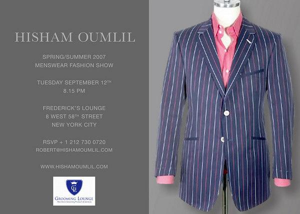 HISHAM OUMLIL Spring/Summer 2007 Menswear Fashion Show
