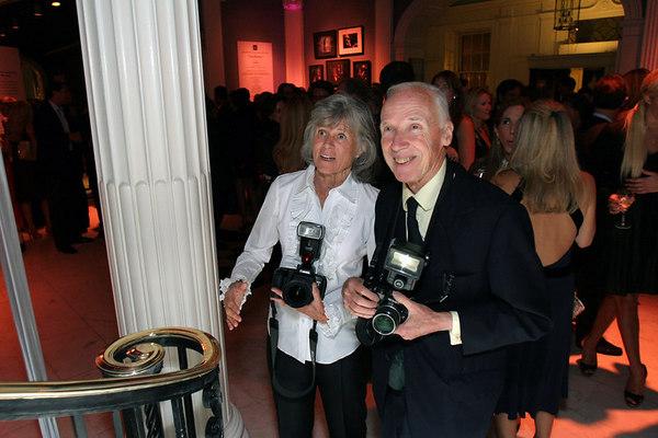 Photographers, Mary Hilliard & legendary New York Times lensman Bill Cunningham