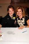 New York Junior League President Trish Duval and author Arianna Huffington at All Souls Church on the Upper East Side. The New York Junior League, at its fall membership meeting hosted Ms. Huffington on her Fearless Book Tour
