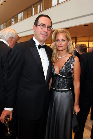 Heather and Steven T. Mnuchin at Lincoln Center for New York Philharmonic Opening Night Gala, a celebration of the New York Philharmonic's 165th Season