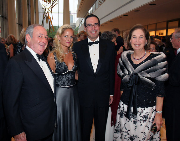 Edward Pantzer, Heather and Steven Mnuchin, and Pamela Pantzer
