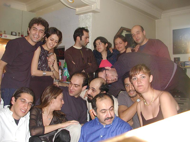 Nima with his family and friends in Iran