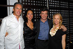 "Campion Platt, Tatiana Platt, <a href=""http://www.jaymcinerney.com/"">Jay McInerney</a> & Anne Hearst at Architect Campion Platt and Tatiana Platt's Soho Penthouse for a Cocktail Party to Celebrate Engagement of Jay McInerney & Anne Hearst"