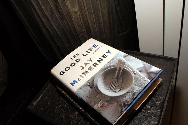 "<a href=""http://www.jaymcinerney.com/"">Jay McInerney's</a>  latest book  <a href=""http://www.randomhouse.com/catalog/display.pperl?isbn=9780375411403"">""The Good Life""</a>"