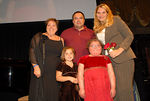 Kristina Schultz and family with donor Shannon Behrhof