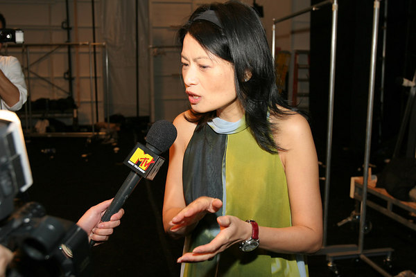Vivienne Tam gets interviewed by MTV
