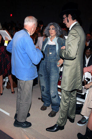 Bill Cunningham has a word with Lauren Ezersky & Patrick McDonald