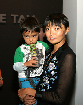 Irina Pantaeva and son Solongo