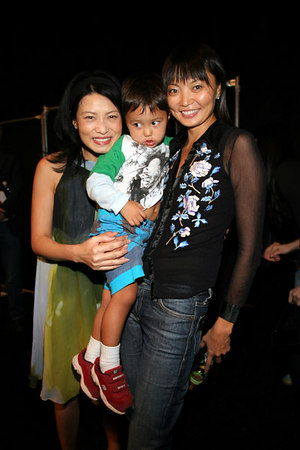 Vivienne Tam with Irina Pantaeva and her little one