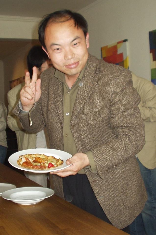 "ma says ""matt's pancakes hen hao chi"""