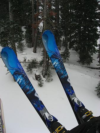 Katy's skis